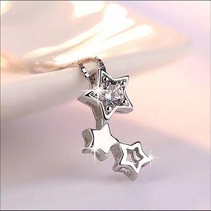 Jewelry - Sterling Silver 925 CZ Stars Necklace